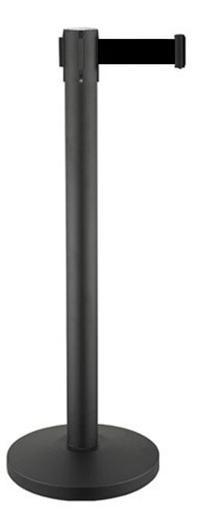 Διαχωριστικό κολονάκι με μαύρο ιμάντα