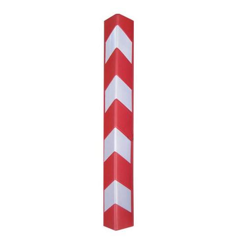 Γωνιά από πλαστικό με ανακλαστικά κόκκινη