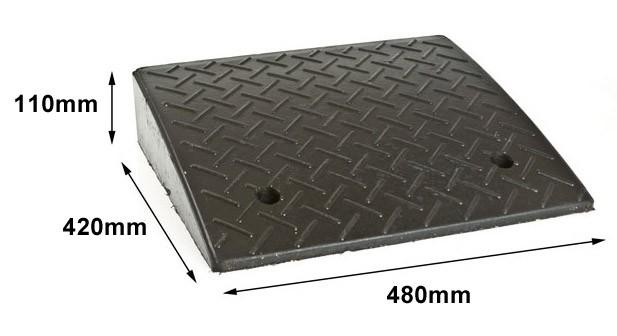 Ελαστική ράμπα πεζοδρομίου ύψους 11cm
