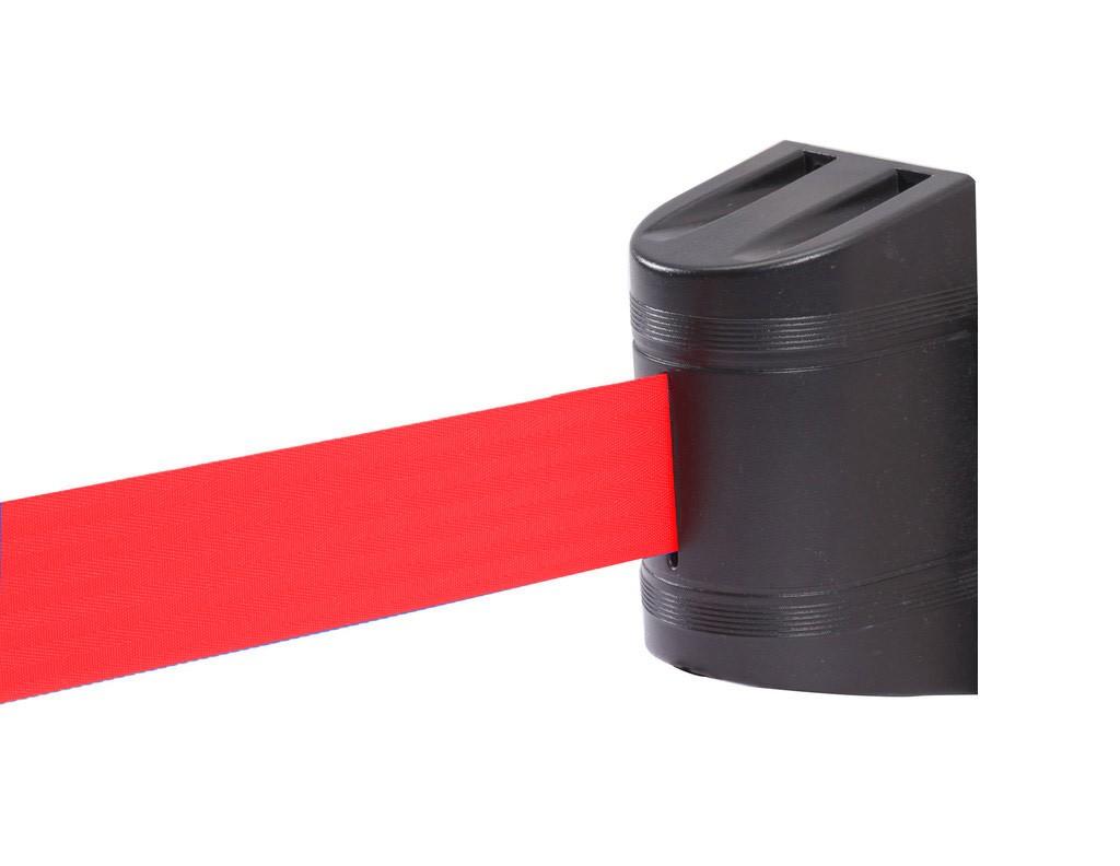 Wall Stopper με κόκκινο ιμάντα 5m και μαύρο πλαστικό κέλυφος από ABS