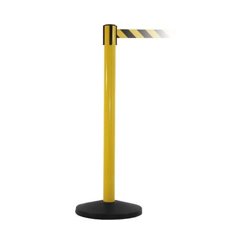 Κολωνάκι οριοθέτησης κίτρινο ύψους 91cm με μαύρο / κίτρινο ιμάντα 2m ΥΒΥ-200