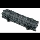 Κρεμαγιέρα πλαστική M4x333mm γκρι χρώματος (2 μέτρα συσκευασία με αυτοδιάτρητες βιδες) RP-333/2