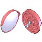 Καθρέπτης ασφαλείας διαμέτρου 100cm με βάση για στύλο και γείσο KCM-100-OUT