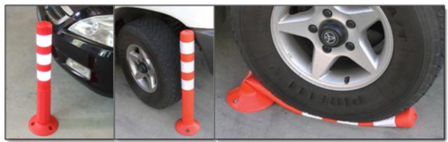 Πλαστικά κολωνάκια για οδική σήμανση και ασφάλεια